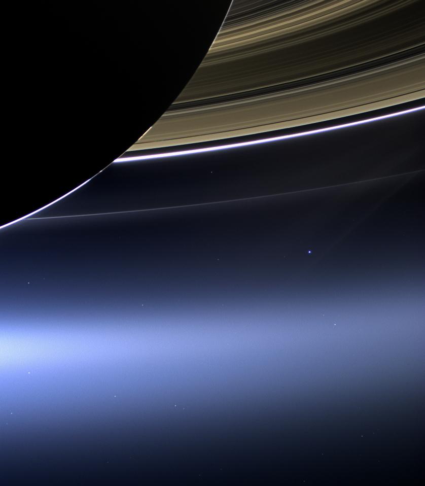 نقطه آبی رنگ پریده، پرنورترین نقطه زمین هست ...